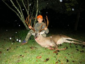 Boy kills buck
